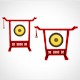 Chineese Gong realistic and cartoon style