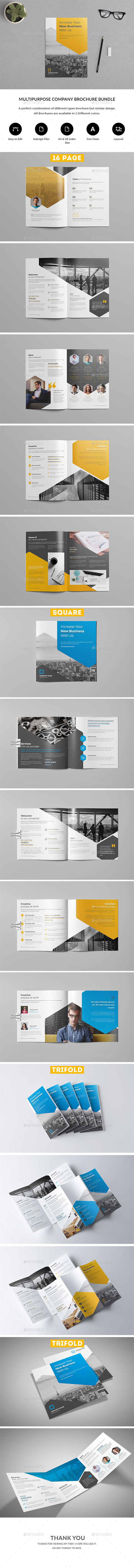 GraphicRiver Company Profile Brochure Bundle 21191995
