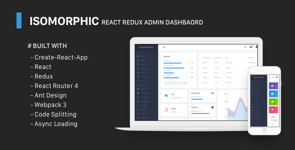 Isomorphic - React Redux Admin Dashboard - Admin Templates Site Templates