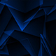 Blue Abstract Polygonal Background Loop
