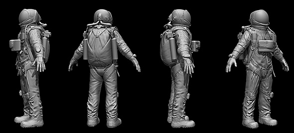 space suit - 3DOcean Item for Sale
