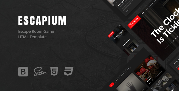 Escapium - Escape Room Game HTML Template