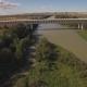 Modern Train Bridge Over Ebro River