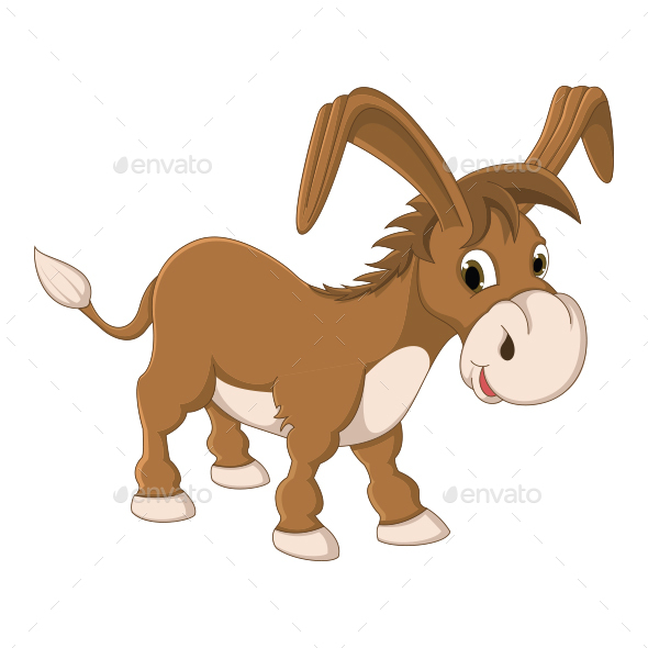 Donkey Vector Illustration - Animals Characters