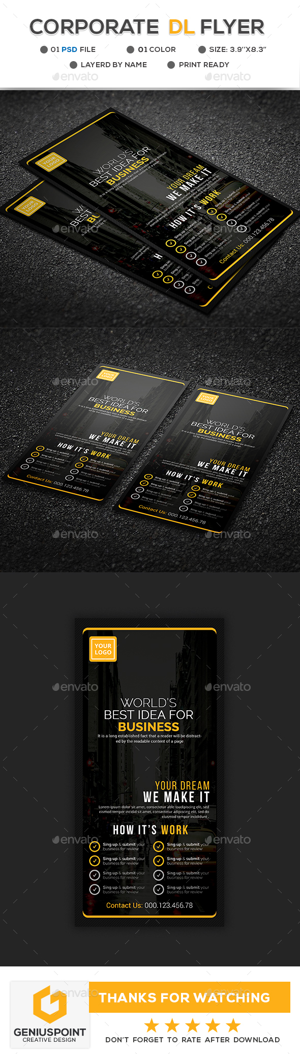 GraphicRiver Corporate DL Flyer 21192295