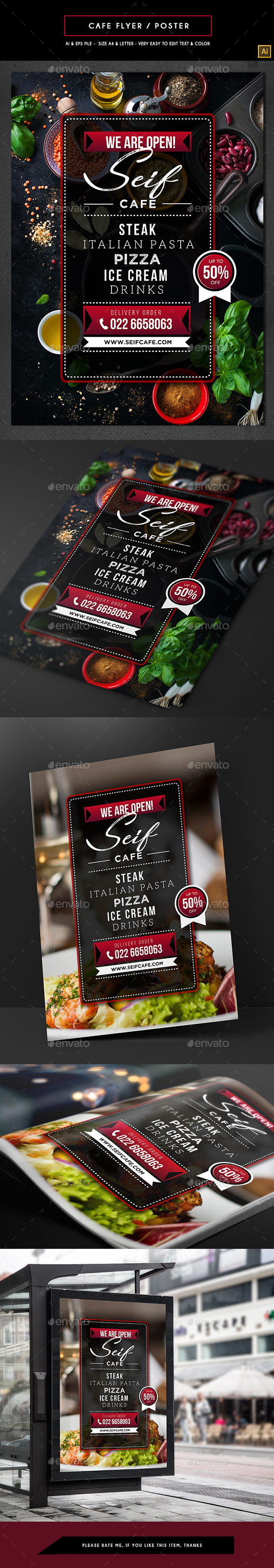 GraphicRiver Cafe Flyer Poster 21179202
