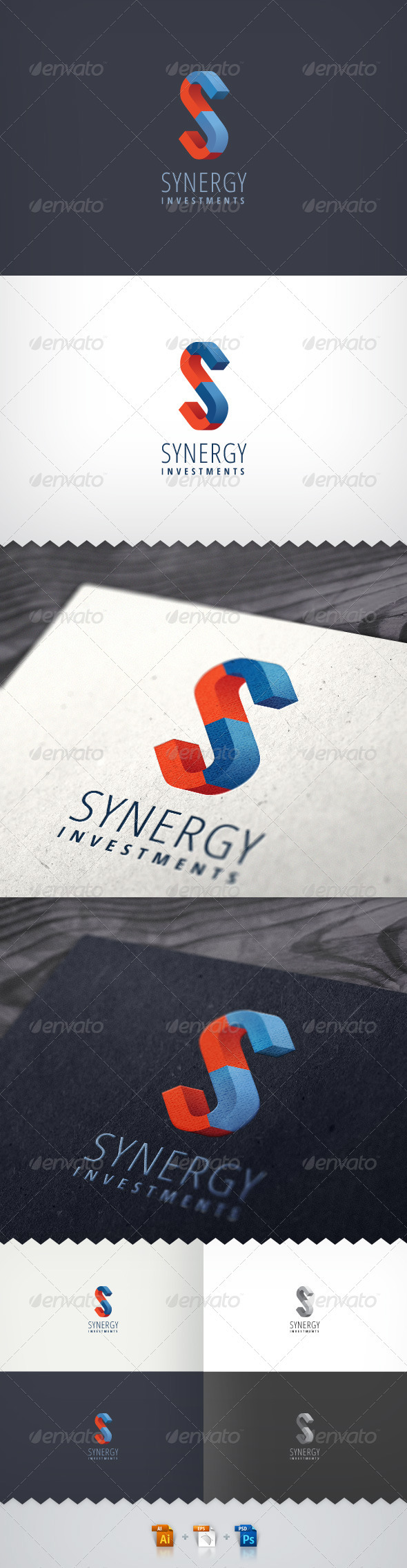 Synergy Investments Logo - Letters Logo Templates