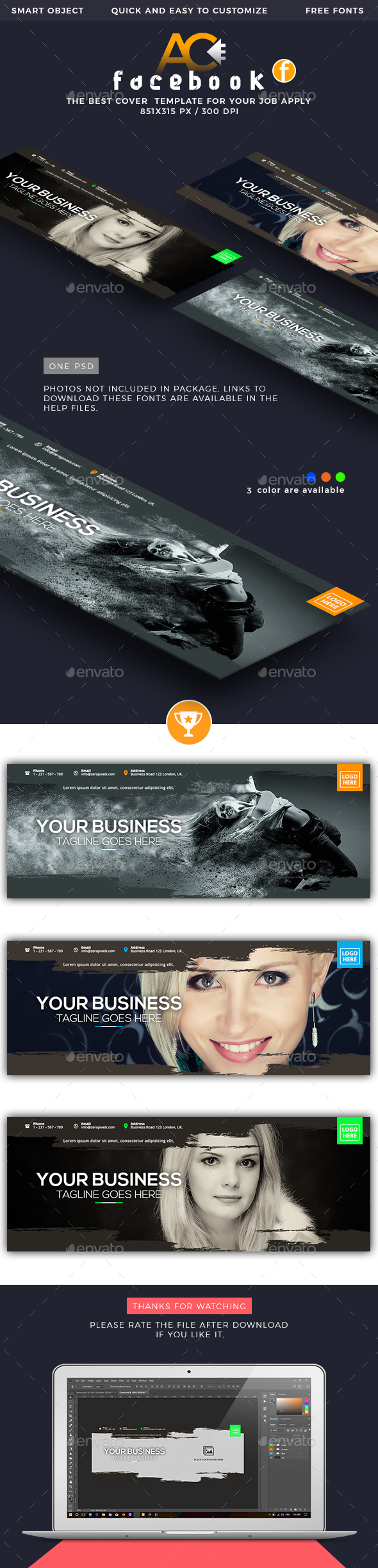 GraphicRiver Facebook Cover 21192714