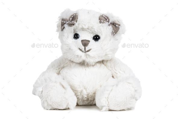White fluffy teddy bear - Stock Photo - Images