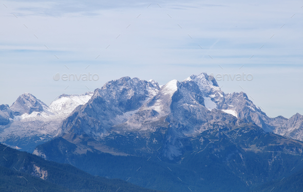 Karwendel mountain ridge - Stock Photo - Images