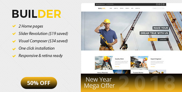 Builder - Construction and Builder WordPress Theme