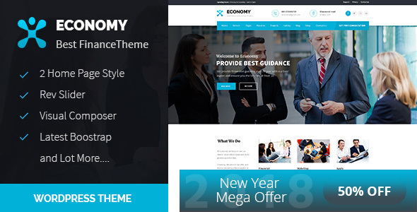 Extraordinary Economy - Finance & Business WordPress Theme