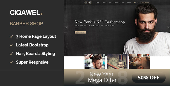Cigawel - Barbershop WordPress Theme
