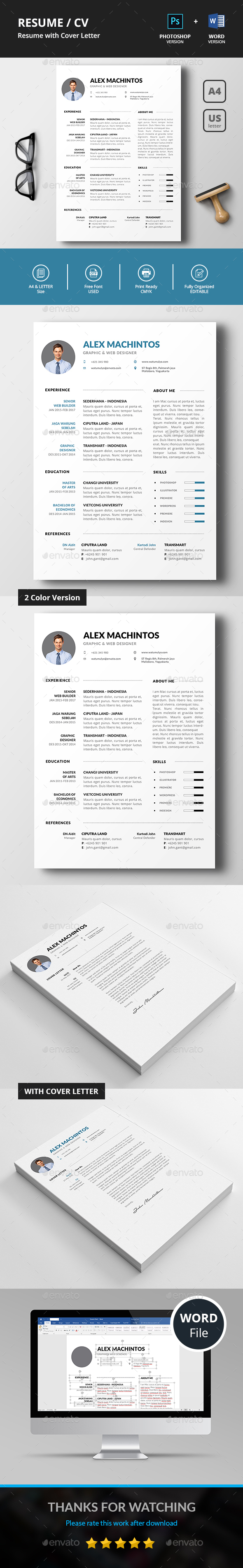 GraphicRiver Resume CV 21193141