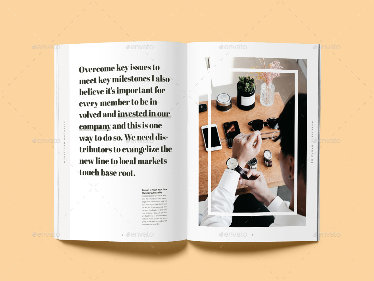 Workstead Magazine - 40 Pages Indesign Template by Danibernd ...