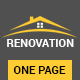 Renovation - Construction Landing Page - ThemeForest Item for Sale