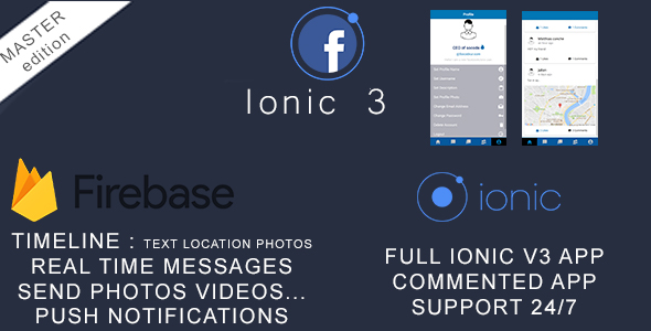 CodeCanyon Facebook Clone in Ionic 3 and Firebase 21193255