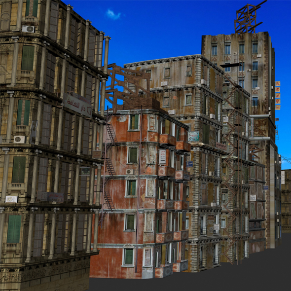 10 low poly old buildings - 3DOcean Item for Sale
