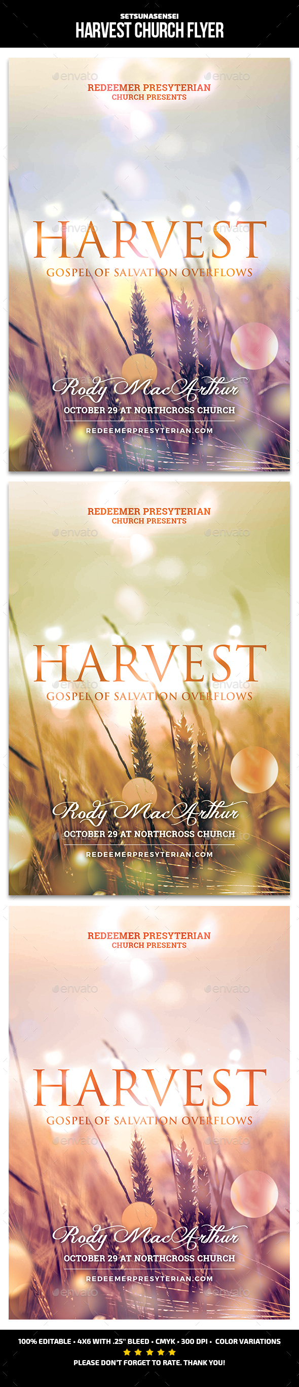 GraphicRiver Harvest Church Flyer 21193455