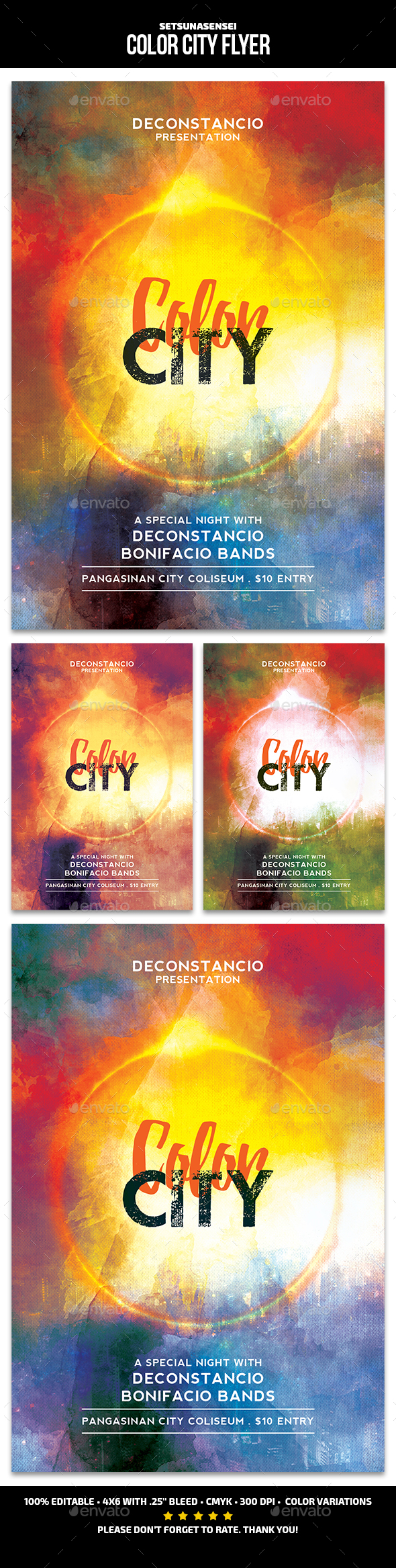 GraphicRiver Color City Flyer 21193459