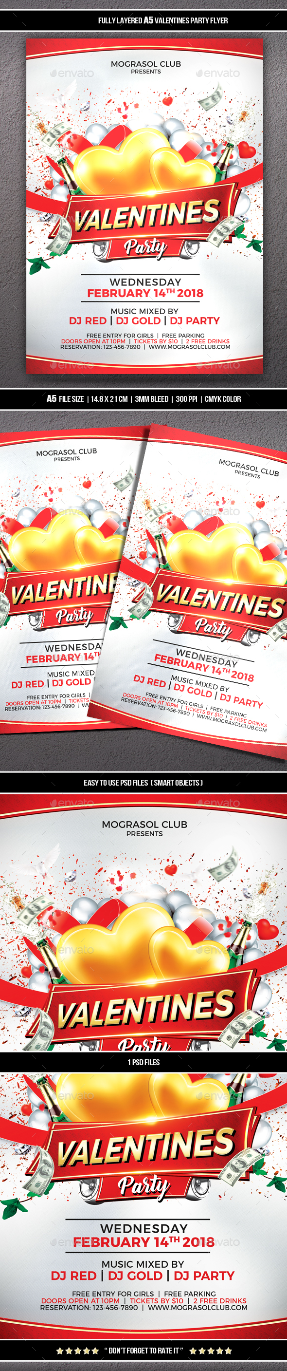 GraphicRiver Valentines Party Flyer 21193477