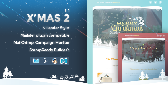 X'mas 2 | Responsive Email Template - Newsletters Email Templates
