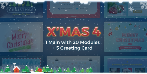 X'mas 4 | Holiday Template + Greeting Card - Newsletters Email Templates