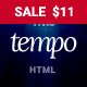 Tempo - Multipurpose Responsive Bootstrap Website Template - ThemeForest Item for Sale