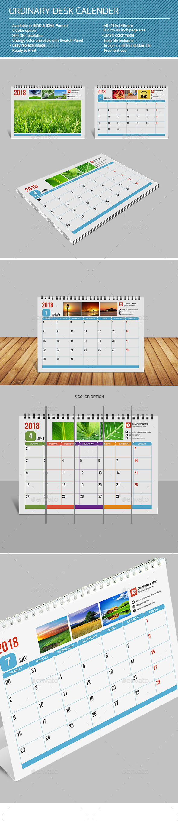 GraphicRiver Ordinary Desk Calendar 21193870