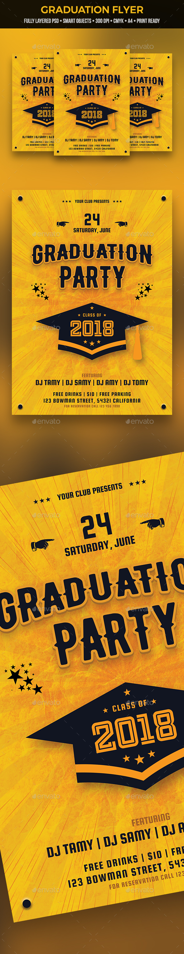 GraphicRiver Graduation Flyer 21193988