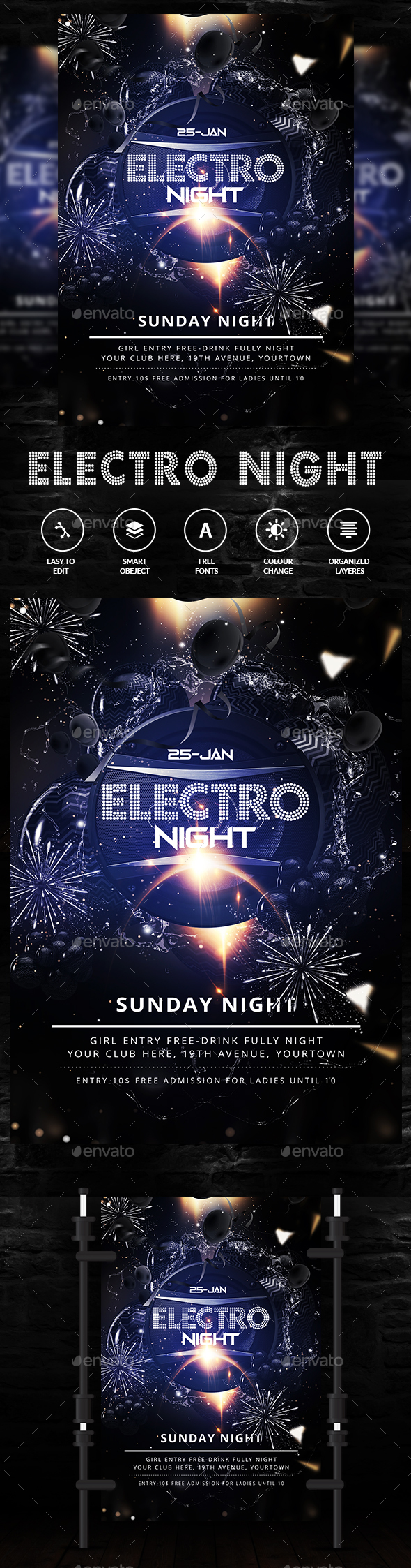 GraphicRiver Electro Flyer 21194009