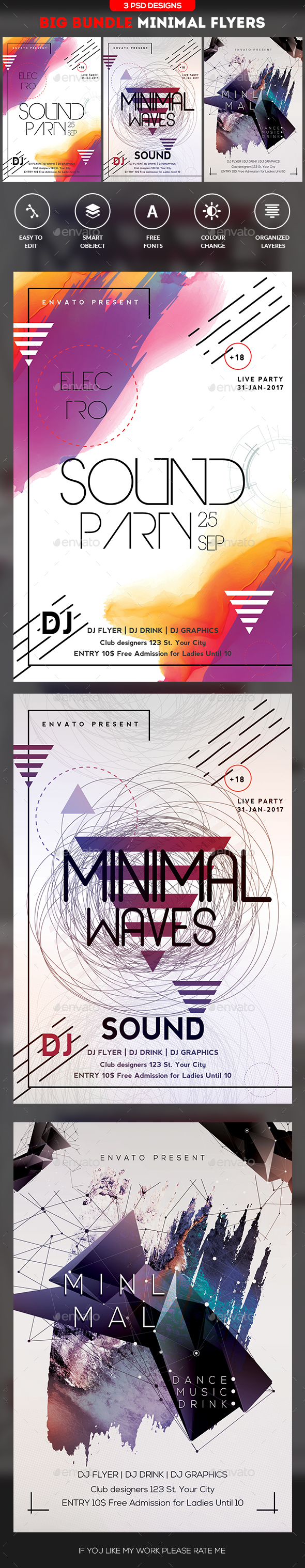 Minimal Flyer Bundle - Flyers Print Templates