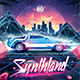 Synthwave Flyer v4 - Synthland Retrowave Series Poster Template - GraphicRiver Item for Sale
