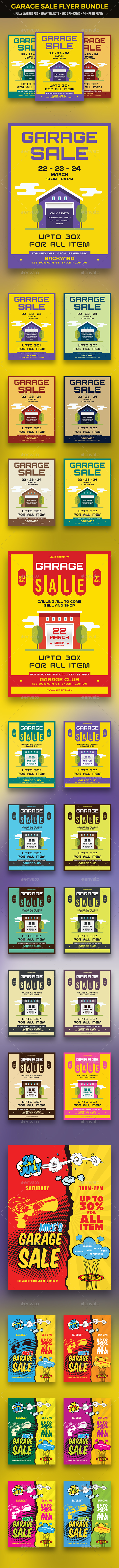 GraphicRiver Garage Sale Flyer Bundle 21194082
