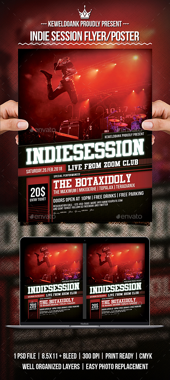 GraphicRiver Indie Session Flyer Poster 21194108
