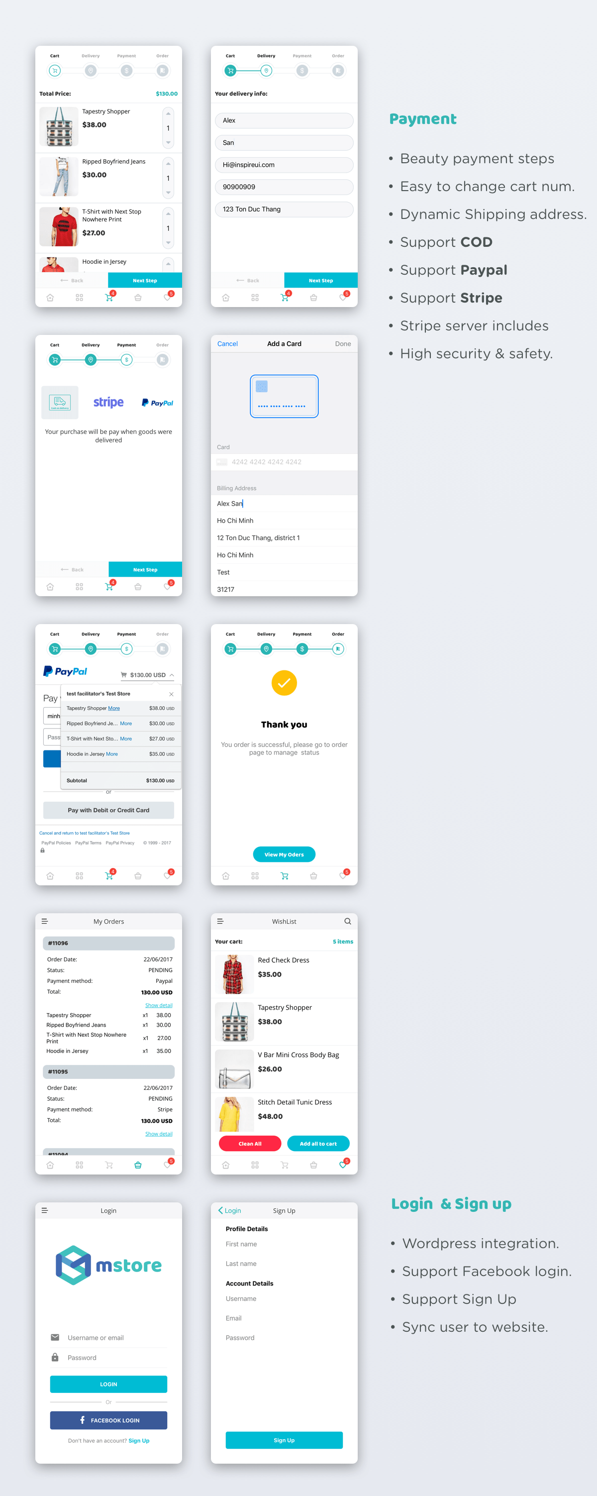 MStore Pro - Complete React Native template for e-commerce by InspireUI
