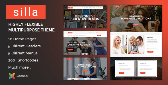 Silla | Responsive Multi-Purpose Joomla Theme With Page Builder - Business Corporate