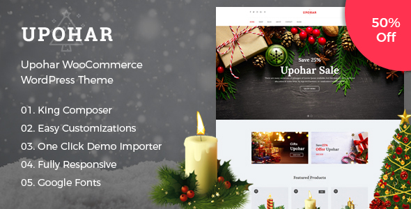 Upohar - Gift Shop WooCommerce WordPress Theme