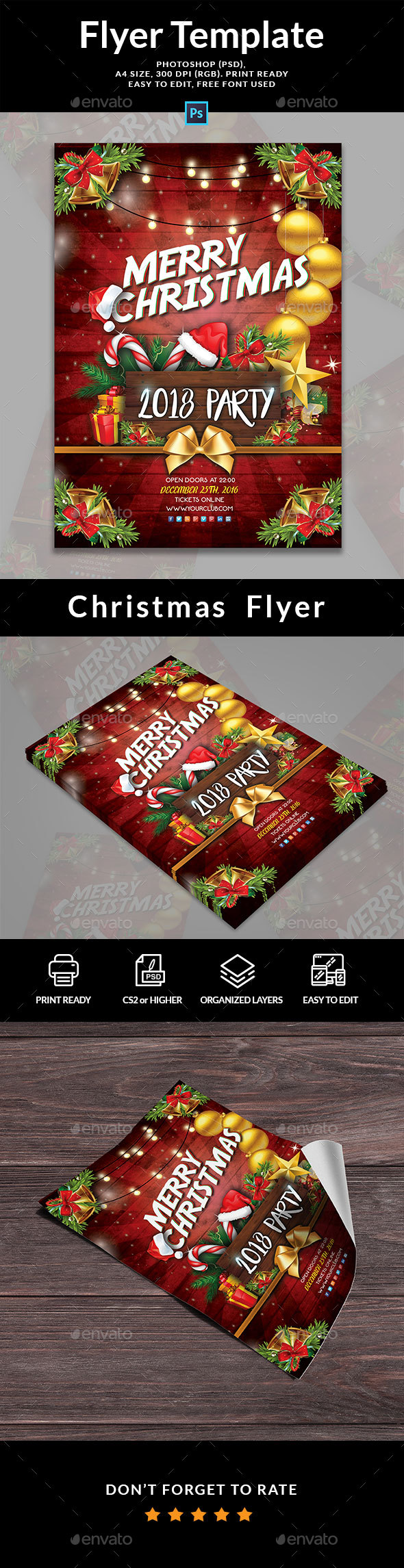 GraphicRiver Christmas Holiday Flyer 21176793