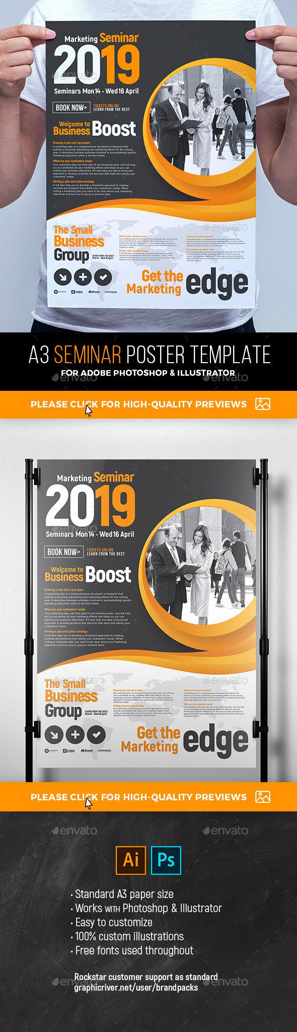 Seminar Poster Template - Corporate Flyers