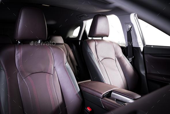 Luxury car interior - Stock Photo - Images