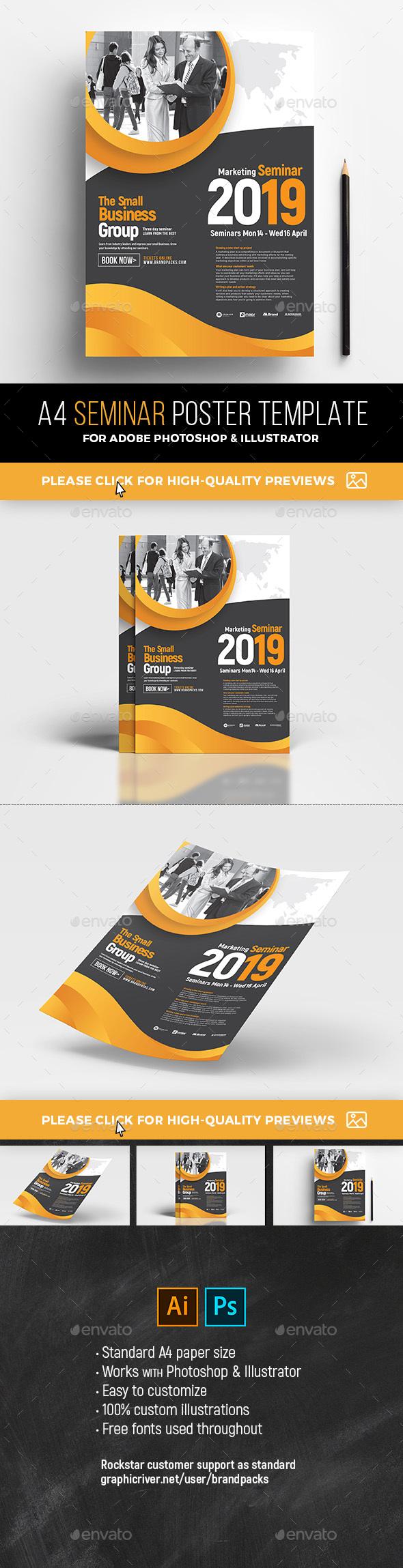 GraphicRiver A4 Seminar Poster Template 21194263