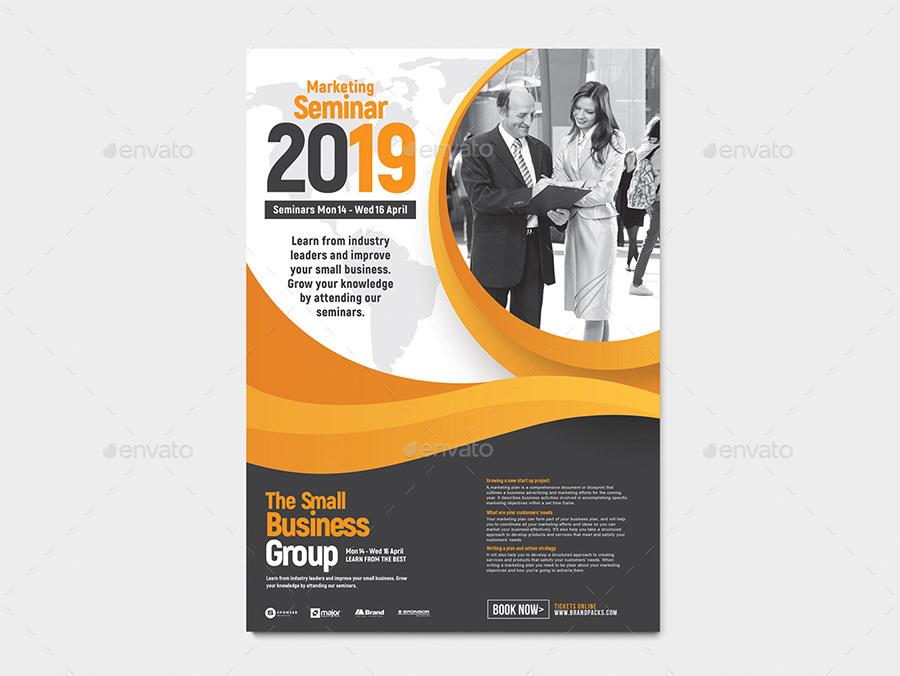 a4 seminar poster template v2 by brandpacks