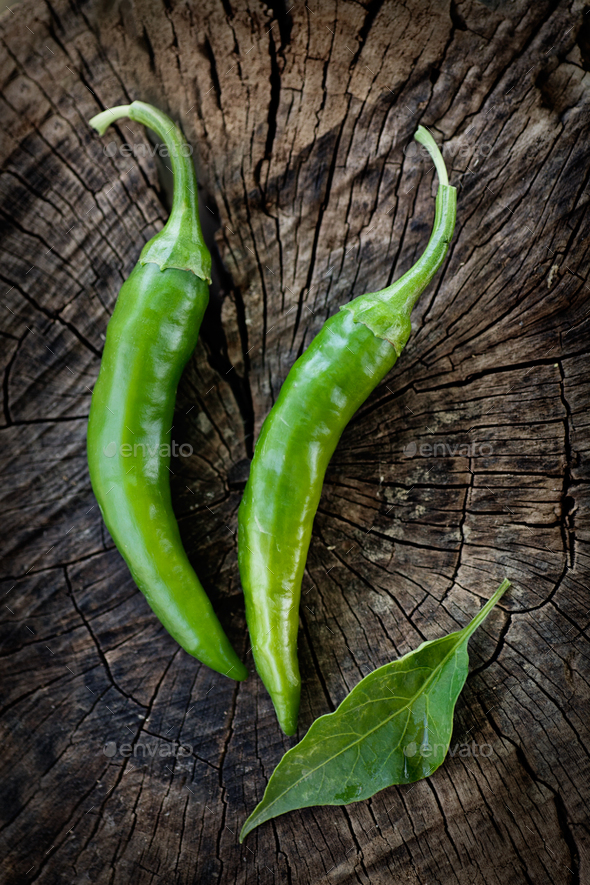 Green chili - Stock Photo - Images