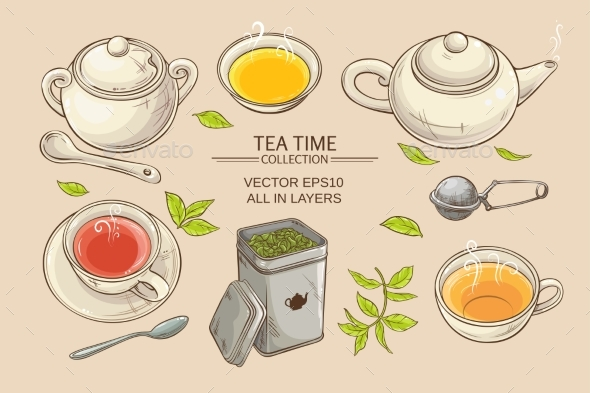 GraphicRiver Tea Set 21194358