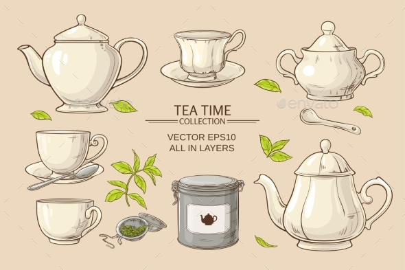 GraphicRiver Tea Set 21194361