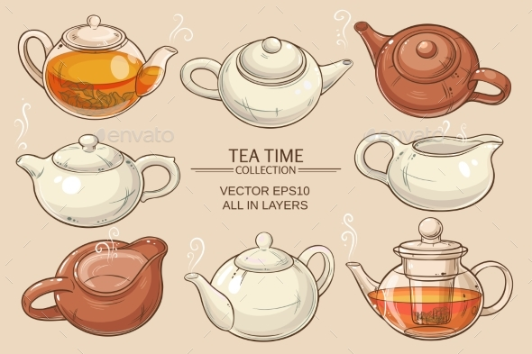 Teapots Set - Food Objects