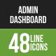 48 Admin Dashboard Green & Black Line Icons