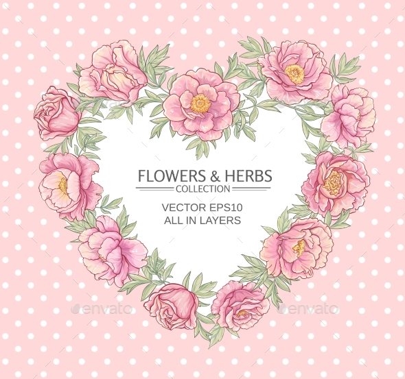 GraphicRiver Peonies Vector Frame 21194398