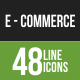 48 Ecommerce Green & Black Line Icons